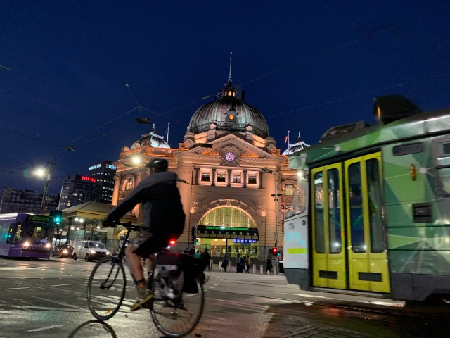 Flinders Street Station at dawn